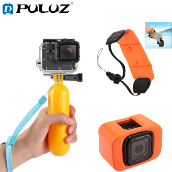 цена на PULUZ Diving Accessories For GoPro Hero 5/6 Floaty Sphonge Floty Bobber Hand Grip Floaty Case For Go Pro Hero 5 Accessories