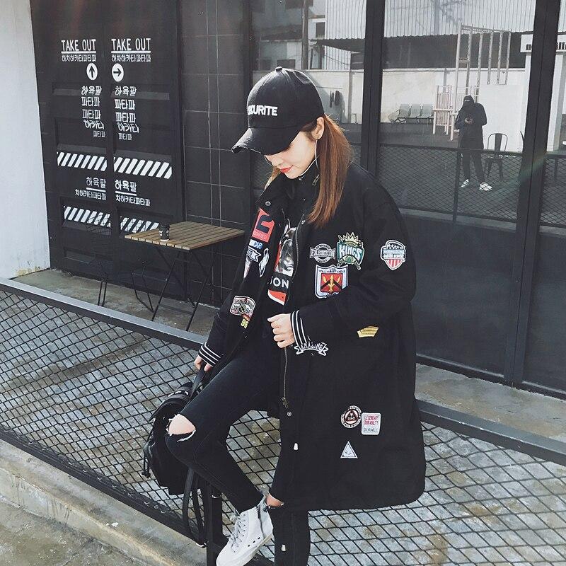 Manteau Lâche coat À green Vêtements Mode Style Manches Femmes Automne Harajuku army Longues Bf Green Pardessus Printemps Survêtement Black Coréenne Zipper Col Trench De 0Yq1wEF