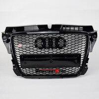 AUDI A3 черный бампер передний решетка Audi гриль эмблема гриль хромированная решетка для Audi A3 S3 RS3 2008 2009 2010 2011 2012 Седан купе
