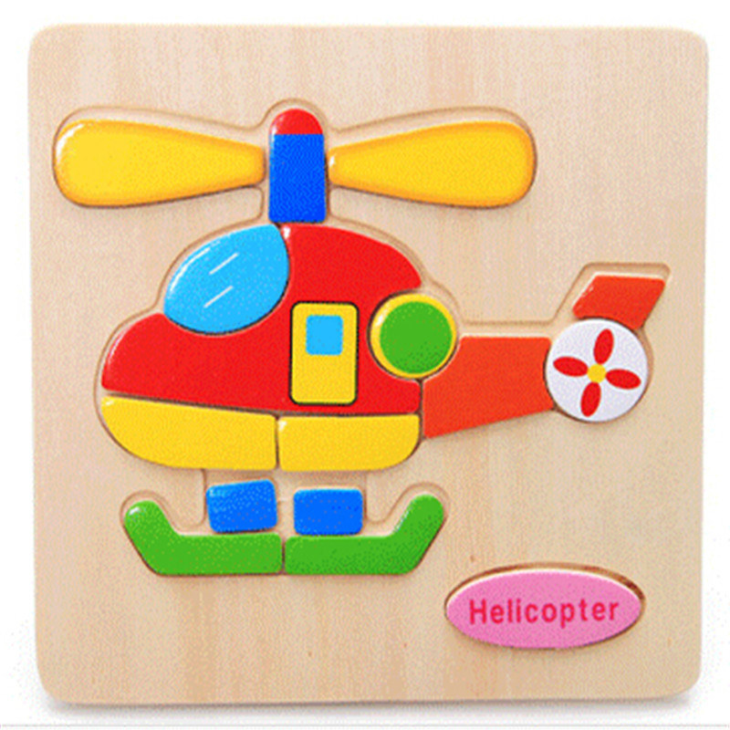 Wooden 3D Puzzle Jigsaw Wooden Toys For Children Cartoon Animal Puzzle Intelligence Kids Educational Toy Toys Toys