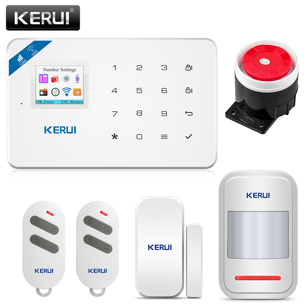 KERUI W18 Wireless WiFi Alarm System GSM Android IOS APP Control Home Security Alarm System image