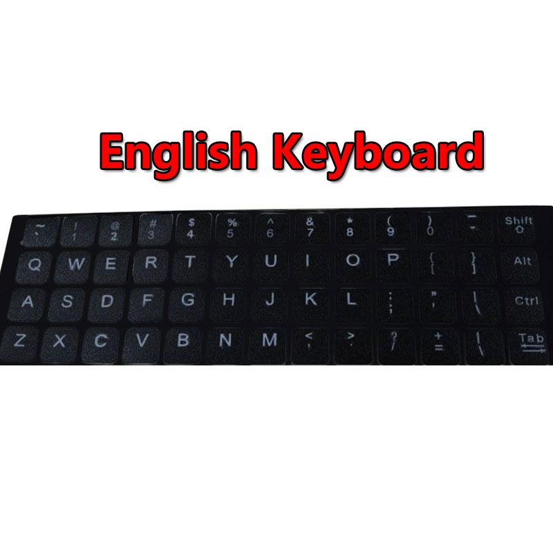 New Glowing Reflective Fluorescent English US Lettering Keyboard Stickers