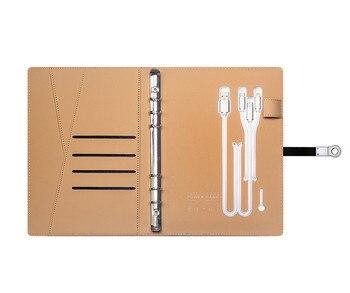 Batterie externe Feuilles Mobiles Cahier D'affaires de Haute qualité Ordinateur Portable Multifonctionnel De Recharge Sans Fil Pour Ordinateur Portable