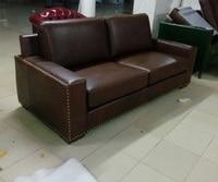 Топ градуированных корова реальный натуральная кожа диван секционные гостиной диван мебель для дома диване 3 seater американский стиль масло