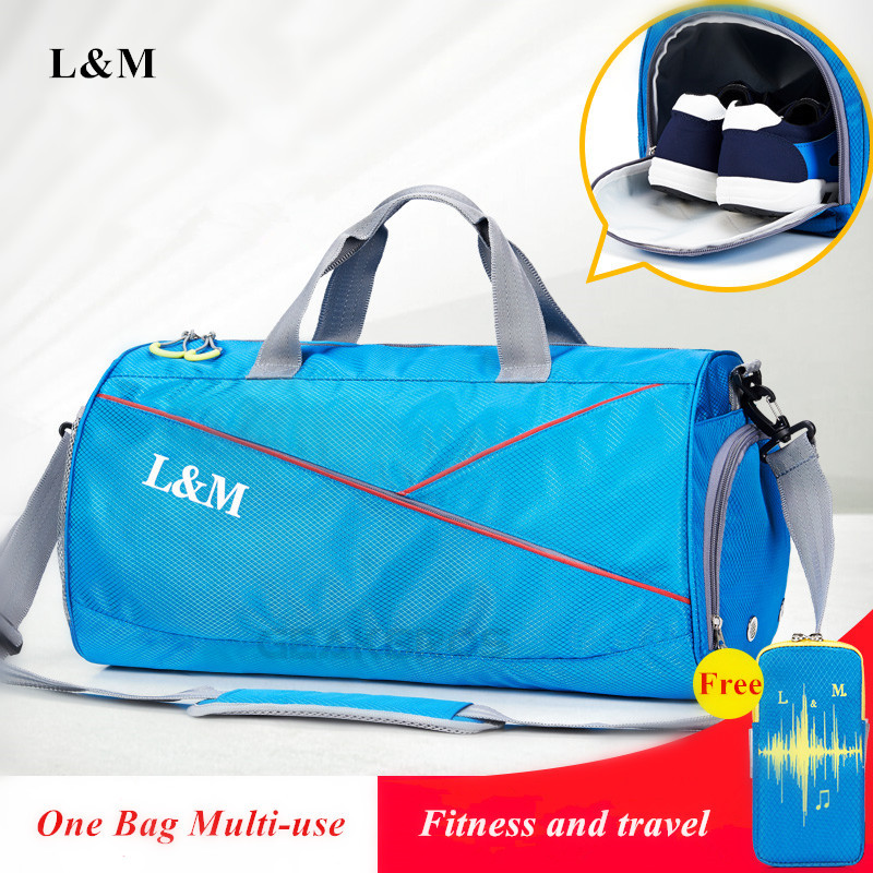 Waterproof Men Sports Gym Bags With Shoes Storage Yoga Fitness Bag Women Outdoor Travel  ...