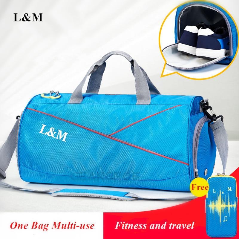 Waterproof Men Sports Gym Bags With Shoes Storage Yoga Fitness Bag Women Outdoor Travel Handbag Training Luggage Crossbody Bags