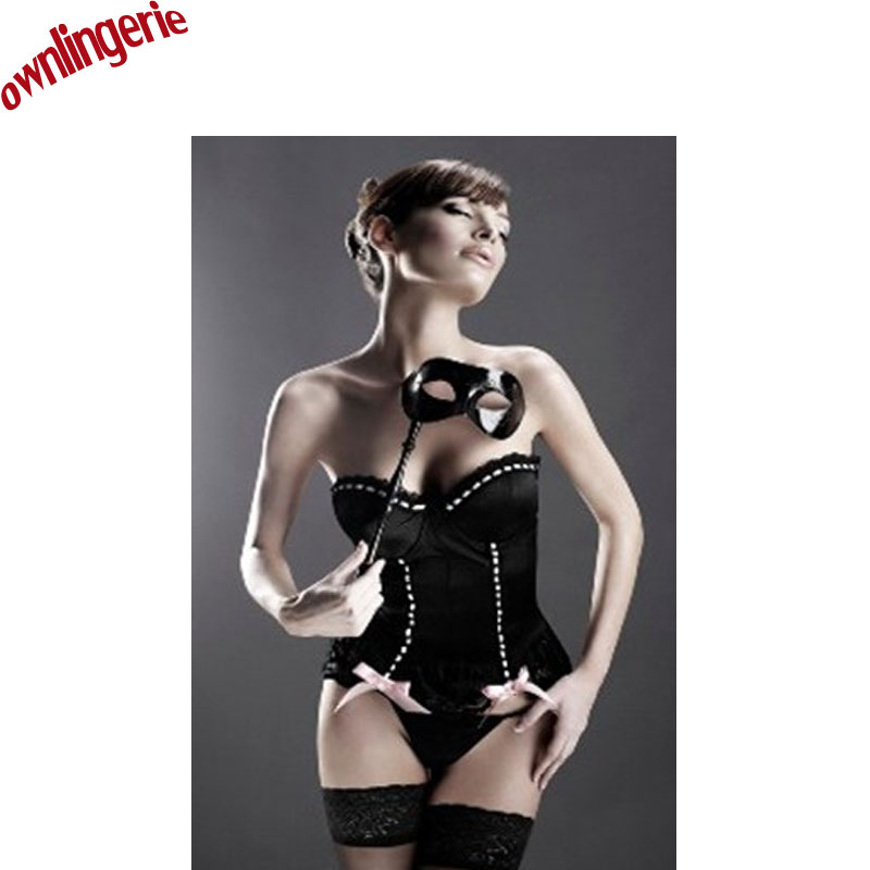 2017 new arrive sexy balck   bustier   lingerie Black   Bustier   Gothic beauty bride   corset   suit Dress m1651