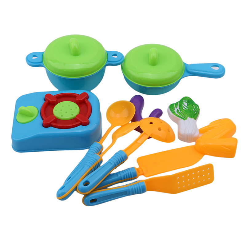 11pcs Set Children Play House Props Simulation Kitchen Utensils S Educational Toys Cooking