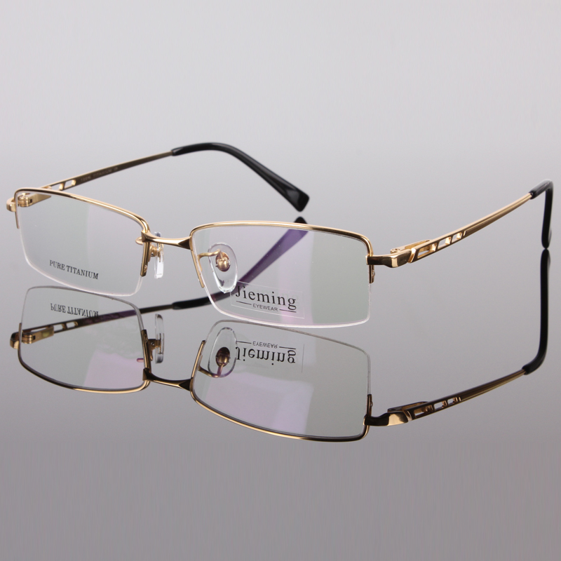 f7de2d5ec2 Men s fashion eyeglass gold frame ultralight titanium frames eye glasses  frames for men optical frame 8253-in Eyewear Frames from Men s Clothing    ...