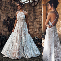 free shiping bohemian summer ladies dresses white lace sexy club backless suspenders maxi formal women elegant lace luxury dress