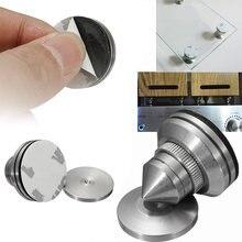 Haut-Parleur En Acier inoxydable Pic + Pad Amplificateur D'isolement Cone Stand Pieds Fit Pour Amplificateur lecteur CD DAC boîtier D'alimentation Mayitr