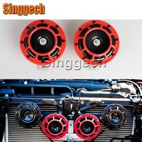 12V Car Styling Red Electric Blast Tone Horn Kit For Mercedes W211 W203 W204 W210 W205 W212 W220 AMG For Cadillac CTS SRX ATS
