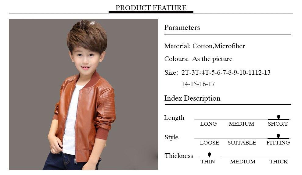 ⃝Winter Boys Coat Winter Thicken Velvet Kids PU Leather Jackets ...
