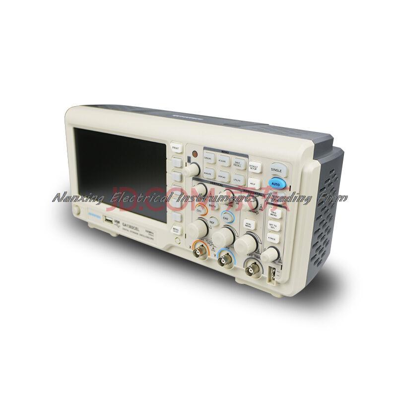 Быстрое прибытие ATTEN GA1202CEL цифровой осциллограф 2 Каналы 2GSa/s USB 7 ''TFT ЖК дисплей AC 110 240 В