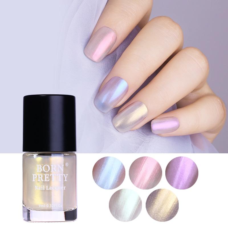 Nail Enamel Artinya: BORN PRETTY 9ml Transparent Shell Glitter Nail Polish