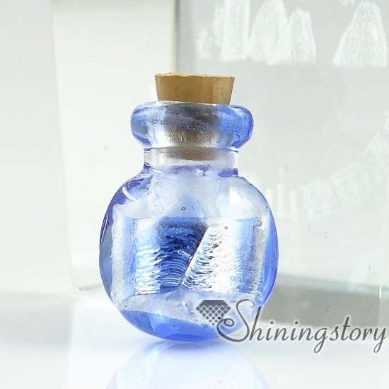 charms empty blown miniature pendant product glass necklace wholesale bottle vial hand jewellery for