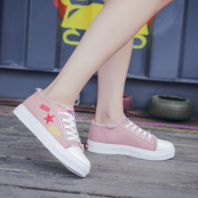 Chaussures Respirant Marée 2018 La Coréenne Toile 3 Plat Fond Étudiant Nouvelle Avec 1 Casual De 2 Conseil Mode Mme RgqnAyq