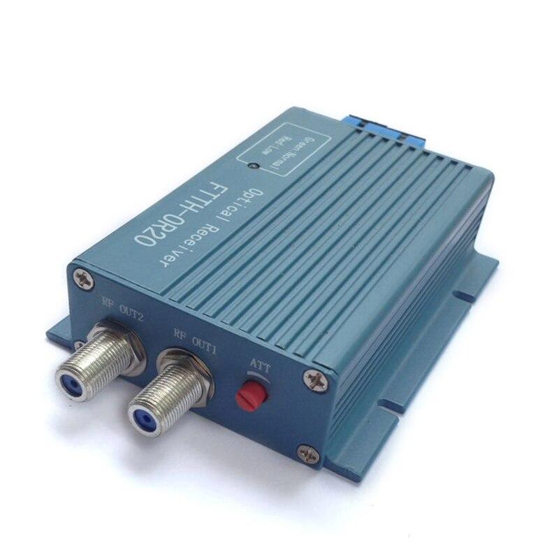 Hottest OR20 CATV FTTH AGC Fiber Optical Receiver 2port input 2port output CATV FTTH optical receiver SC/UPC