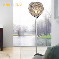 Floor Lamp crystal floor lamp Modern Floor Light LED E27 torso lighting 1.6m high Living room bedroom study decoration light