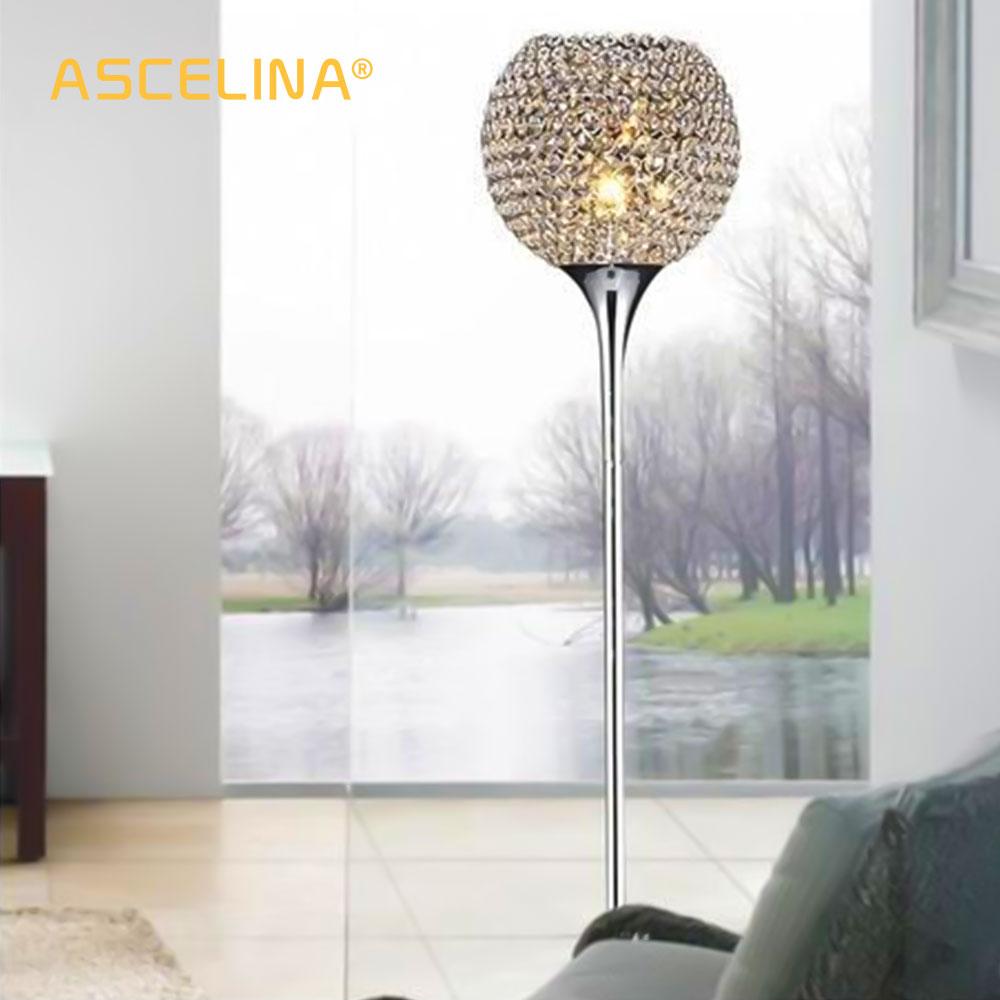 Floor Lamp crystal floor lamp Modern Floor Light LED E27 torso lighting 1.6m high Living room bedroom study decoration light
