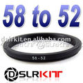 58mm-52mm 58-52 Step Down Filter Ring Stepping Adapter