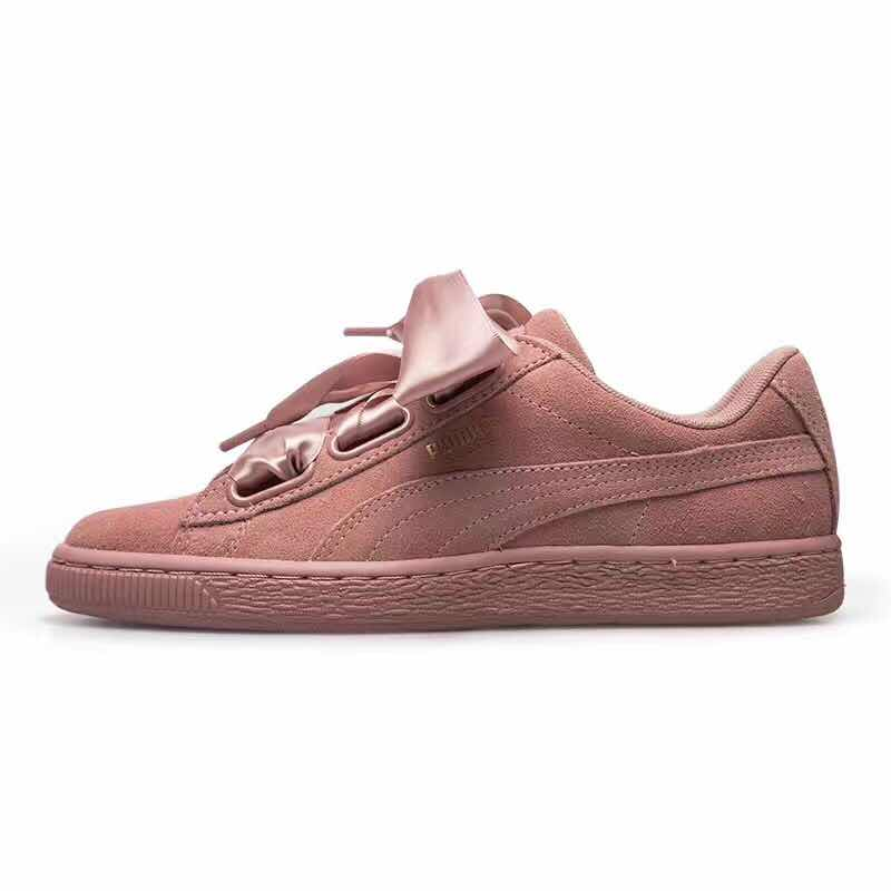 2018 New Arrival PUMA Suede Heart Satin II W 364084-03 Womens Sneakers Badminton Shoes size35.5-40