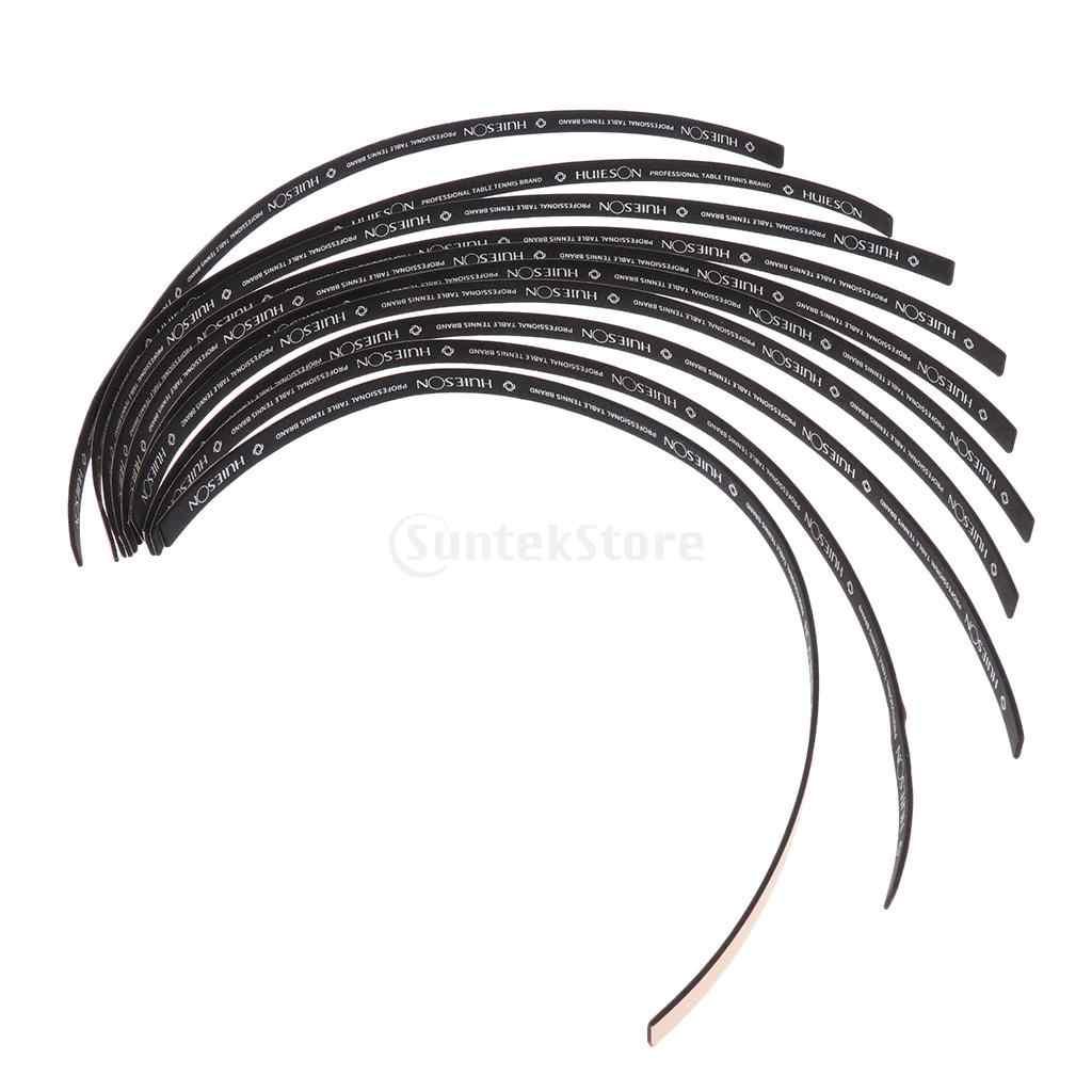 20 unidades de cinta protectora de borde de paleta de tenis de mesa cinta protectora lateral de esponja azul + negro