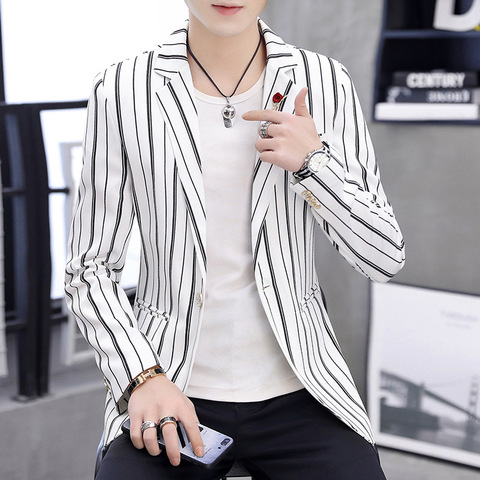Zogaa 2019 New Spring Mens Blazer Fashion Slim Fit Business  Smart Casual Stripe Suits & Blazers Veste Costume Homme Islamabad