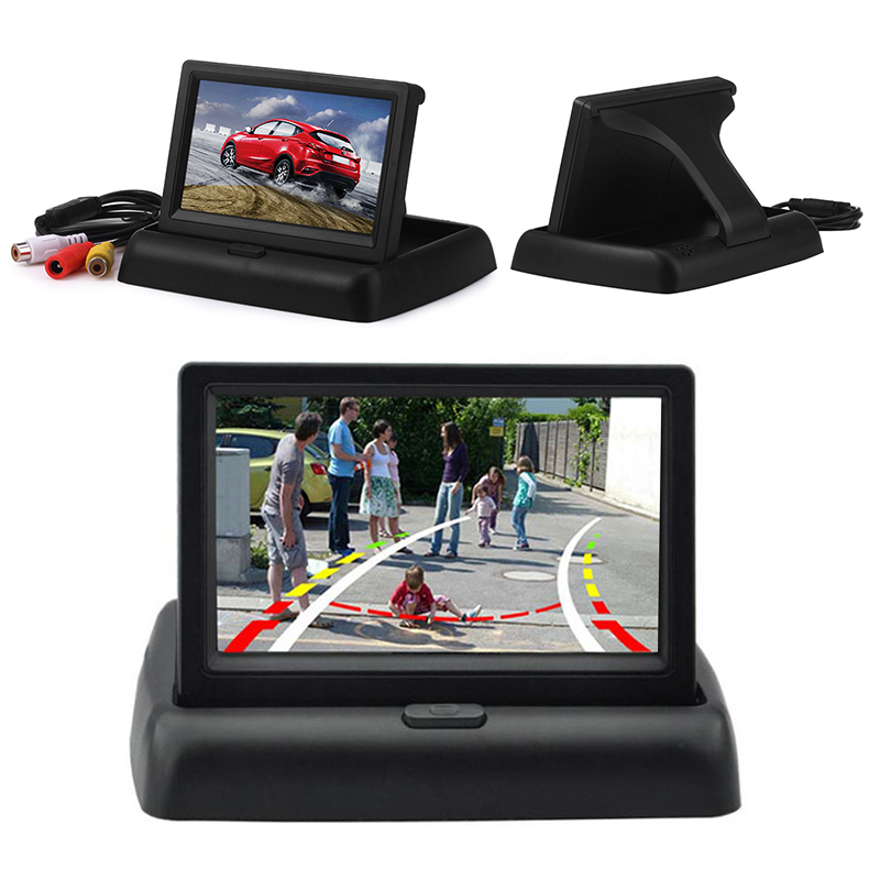 Parking-System Monitor Display Reverse-Camera Foldable New LCD TFT  title=