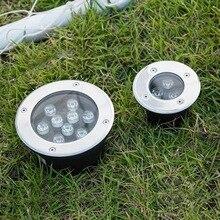 Светодиодная земли Сад Пол подземный похоронен лампы пятно Пейзаж света AC 85-265 В Ip65 палуба лампы встраиваемые открытый свет grondspot