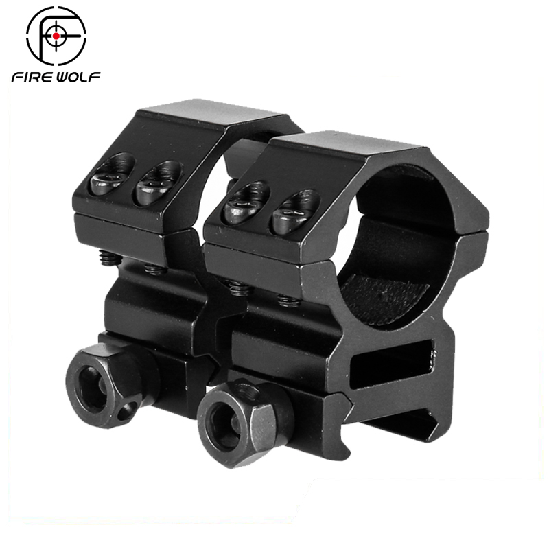 FIRE WOLF Hunting Accessories 25.4mm 1 2PCs Middle Profile Picatinny Weaver Rings Hunting Riflescope 20mm Rail Scope MountFIRE WOLF Hunting Accessories 25.4mm 1 2PCs Middle Profile Picatinny Weaver Rings Hunting Riflescope 20mm Rail Scope Mount