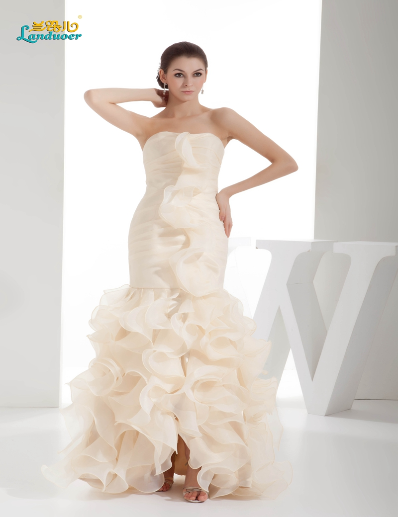 fee53be671f4 Special offer mermaid cloud Wedding Dresses 2016 Elegant tiered front slit wedding  gown ruffles Bridal Gown Vestido de Noiva-in Wedding Dresses from ...
