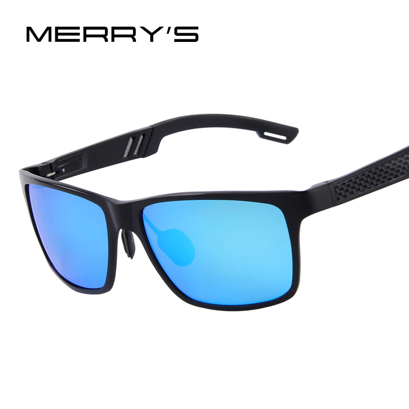 MERRY'S Men Aluminum Polarized Sunglasses Mirror Sun Glasses Glasses Oculos de sol UV400 6560