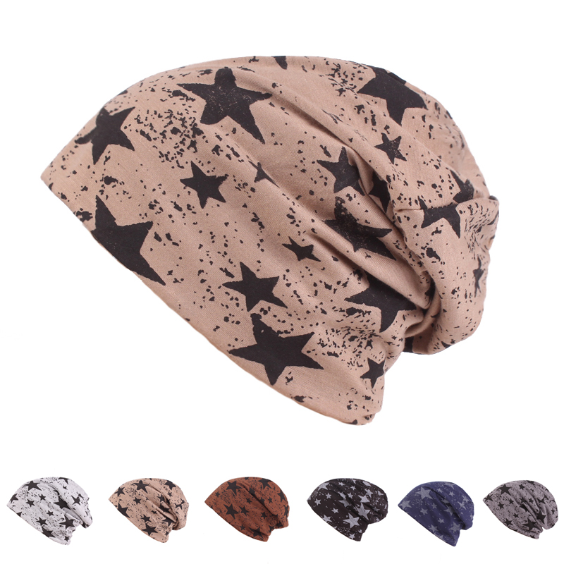 Fashion Autumn And Winter Hats For Men Stars Design Warm Knitting Caps for Women Unisex   Skullies     Beanies   Men Hats Casual   Beanie