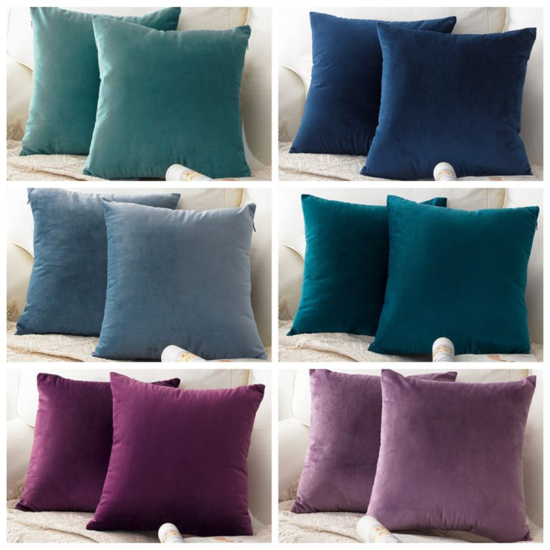 New Nortdic Style Super Soft Velvet Cushion Cover for Sofa Bed Car Throw <font><b>Pillow</b></font> Cover Decorative <font><b>Pillow</b></font> <font><b>Case</b></font> <font><b>30x50</b></font>/40x40/45x45cm image