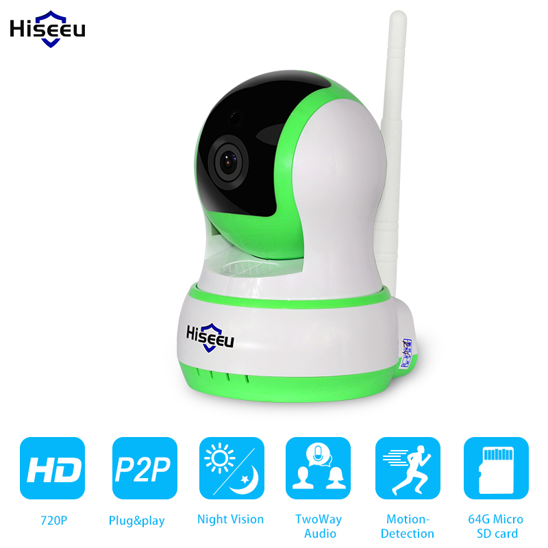 ФОТО HD 720P IP Camera WiFi Wireless Network HD TF Card Record Network Security CCTV Night Vision Defender H.264 433MHz FH5