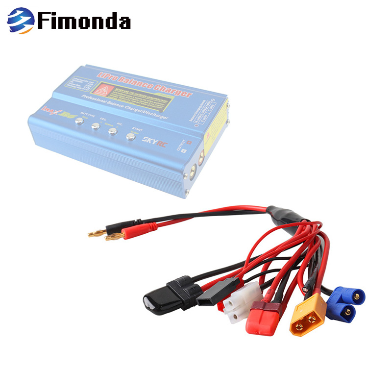 Fimonda 8 in1 Ladegerät Stecker Draht Set JST XT60 EC3 FUTABA TAMIYA T TRX Stecker für SKYRC IMAX B6 B6AC balance Ladegerät Adapter Kabel