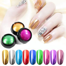 1 Pcs Nail Art Spiegel Pigment Poeder Nail Glitter Dip Poeder Rose Goud Spiegel Chrome Poeder Decoratie Uv Gel Polish manicure(China)