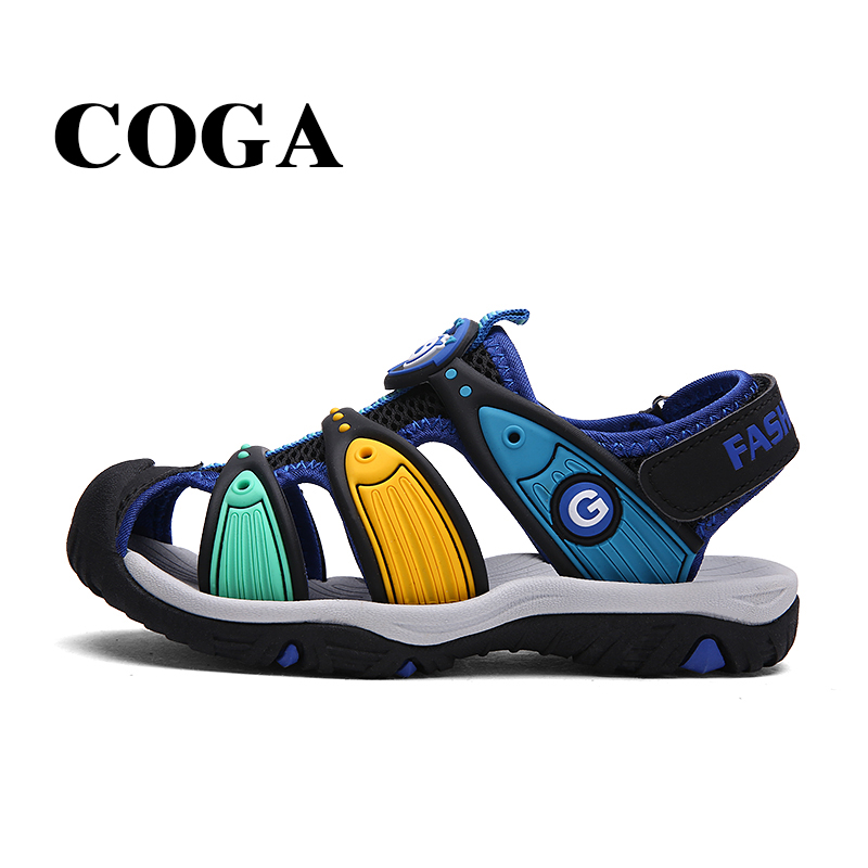 LA LPGC tissu d'été garçon sandales bout wrap sandale enfants chaussures mode sport sandales enfants sandales pour garçons 6 10 ans - 2