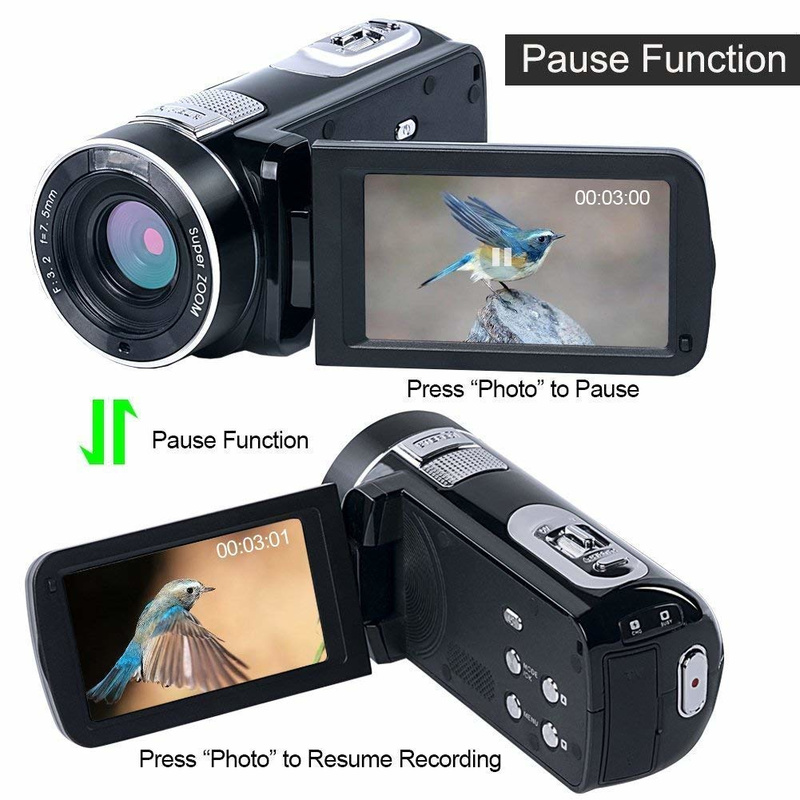 Digital-Camera Camcorder Anti-Shake Video-Cmos 1080 Micro 24MP Face-Detection-Function-Cameras title=