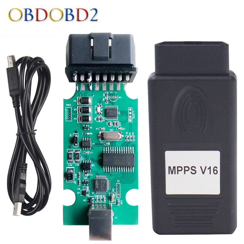 MPPS V16 Auto ECU Chip Tuning Interface For EDC15 EDC16 EDC17 MPPS 16 Multi-Language CAN Flasher Remap Cable Free Ship