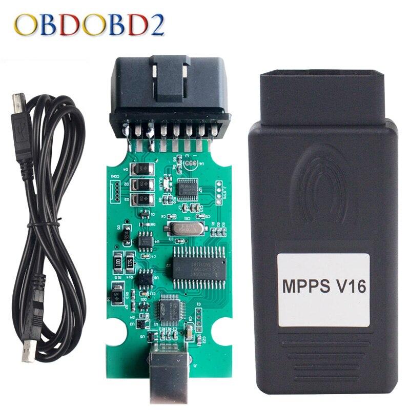 SIPM V16 Auto ECU Chip Tuning Interface Pour EDC15 EDC16 EDC17 SIPM 16 Multi-Langue PEUT Flasher Remap Câble Bateau libre