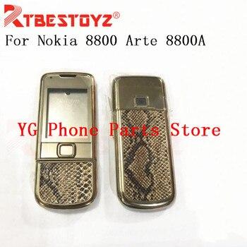 eed11b867e2 RTBESTOYZ OEM patrón de serpiente carcasa completa teclado Inglés para Nokia  8800 Arte 8800A