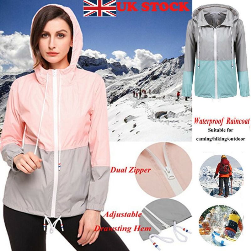 New Fashion Women Autumn Winter Jackets Hoodies Female Zip Up Coats Waterproof Raincoat Outdoor Hooded Windbreaker S-2XL