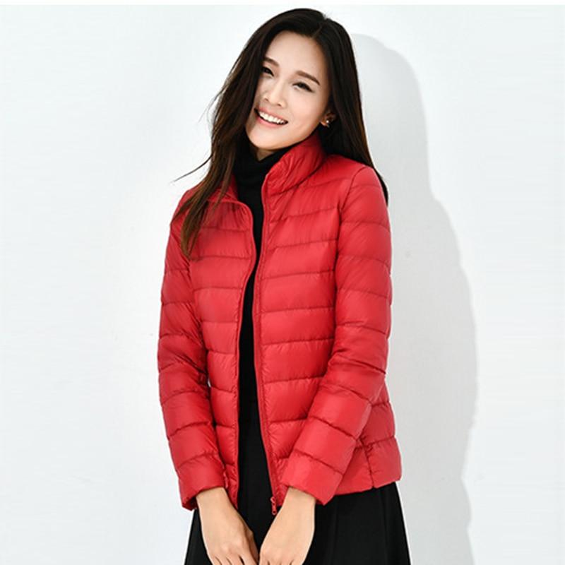 Female Casual   Down     Coat   Plus Size Ultra Light Women   Down     Coats   Spring Autumn Short Oversize Loose   Down   Jacket Outwear LJ2009