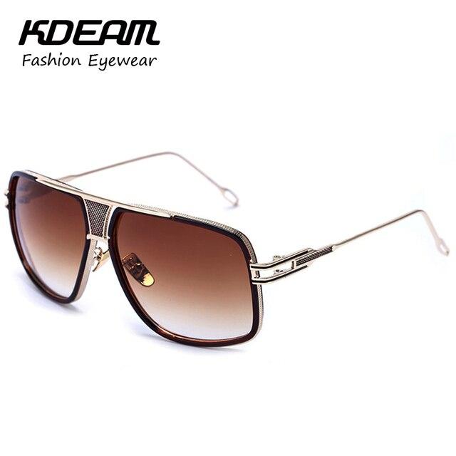 KDEAM Eyewear Gafas Sol Hombres Gold-Tone Del Partido Gafas de Sol Gafas Mujeres femme lunetos sonnenbrille Con Caja KD163