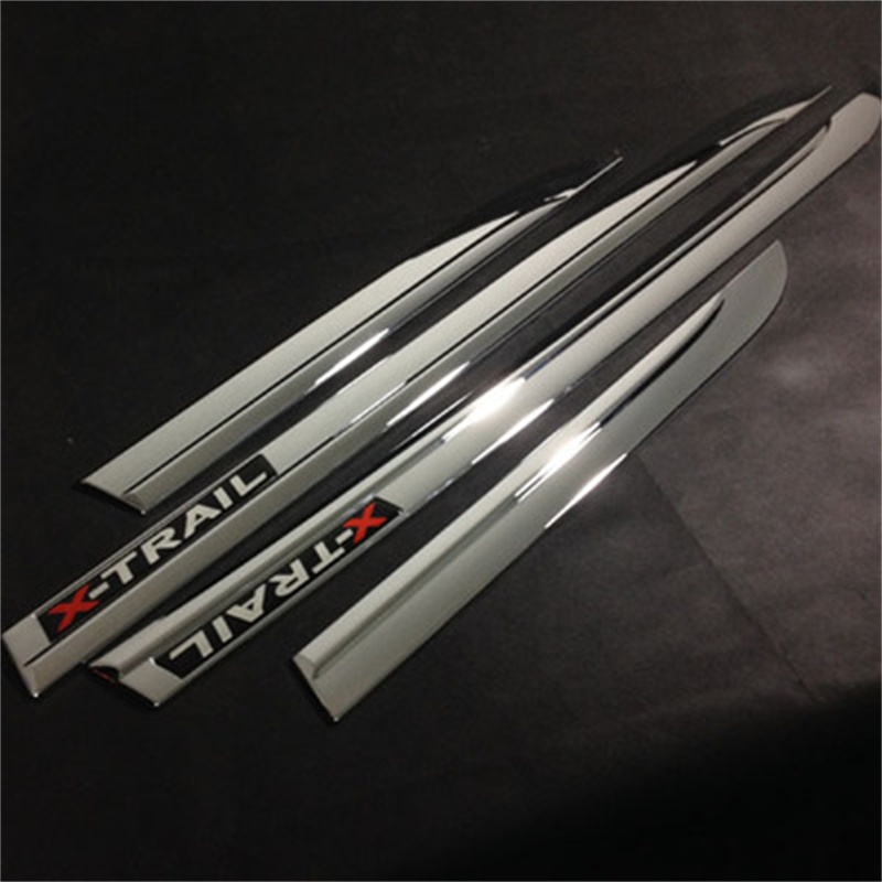 ABS Chrome Side Door Body Protection Molding Trim Cover for Nissan X-Trail X Trial Rogue T32 2014 2015 Car Styling Accessories abs chrome side door body protection molding trim cover for nissan x trail x trial rogue t32 2014 2015 car styling accessories