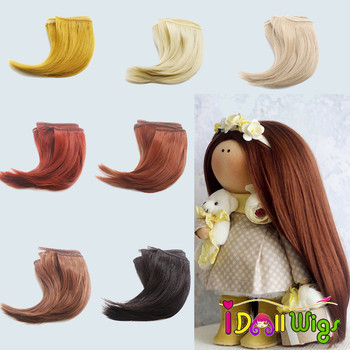 1pc 10/15cm High Quanlity Brown Black Khaki Curly Hair Wefts for bjd Blyth American Dolls DIY Accessories цена 2017