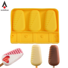 1PCS Silicone Original Shape Moulds With Stick For Healthy Ice Cream Parfait Lolly Mold Cube Acapulco Baking Frozen Food Tools acapulco gold футболка