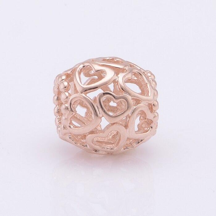 pulsera pandora cierre oro rosa